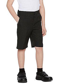 F&F School 2 Pack of Boys Flat Front Shorts - Grey
