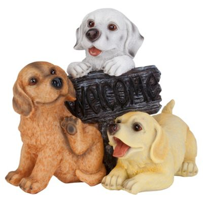 Puppies Welcome Ornament