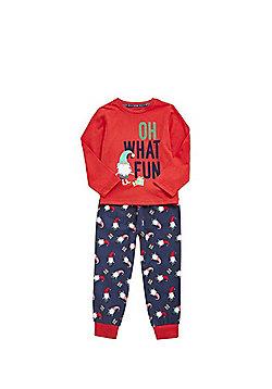 F&F Christmas Gnome Pyjamas - Red & Navy