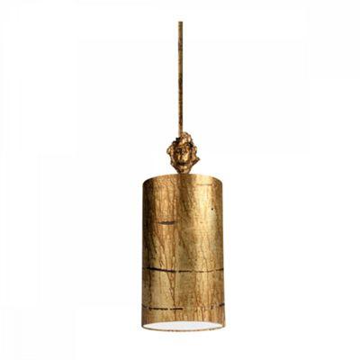 Aged Gold Gold Small 1lt Pendant - 1 x 100W E27