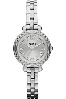 Fossil Ladies Silver Tone Bracelet Watch ES3135