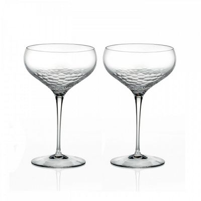 Wedgwood Vera Wang Crystal Sequin Champagne Saucer Pair