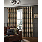 Catherine Lansfield Brushed Heritage Check Curtains - Grey