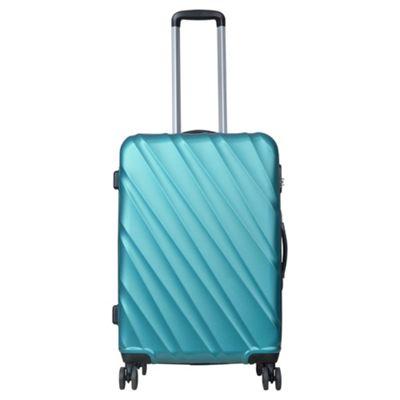 Tesco Munich Medium 8 wheel Hard Teal Suitcase