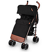 Ickle Bubba Discovery Max Stroller plus accessories Black on Rose Gold Frame