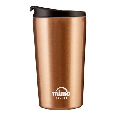 Mimo Travel Mug 250ml, Gold and Black