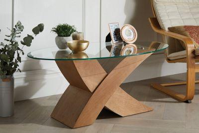 Milano Oak Veneer X Coffee Table