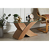 Oak Effect Milano X Coffee Table