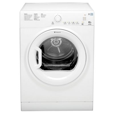 Hotpoint TVYL655C6P Vented Tumble Dryer, 6.5kg Load, B Energy Rating,Polar