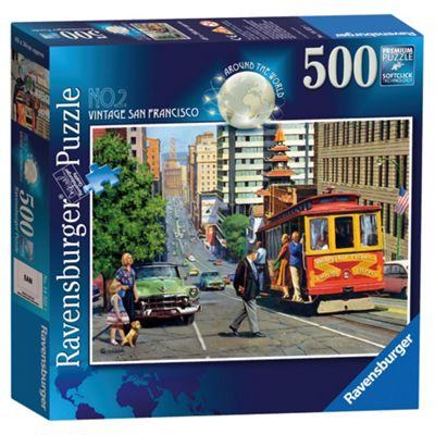 Ravensburger Around The World Vintage San Francisco 1000 Piece Jigsaw Puzzle