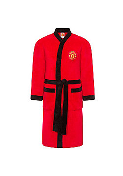 Manchester United FC Mens Dressing Gown - Red 6ce94be55