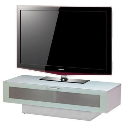 Stil-Stand High Gloss White 1 Tier TV Cabinet for up to 50 inch TVs