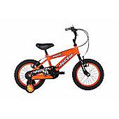 "Bumper Force 16"" Wheel Kids Pavement Bike Orange Stabilisers"
