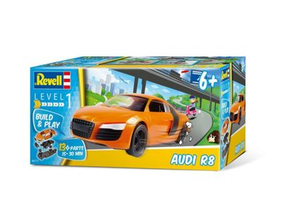 Revell 06111 Build and Play - Audi R8 (1:25 Scale)
