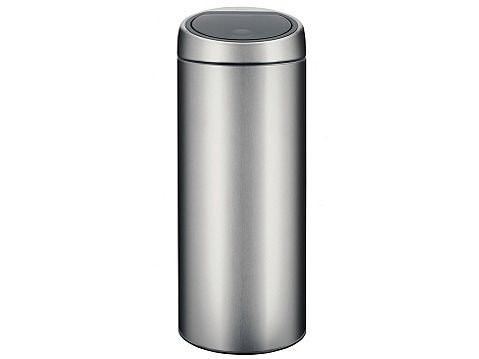 Brabantia 30 Liter Touch Bin.Brabantia Touch Bin 30 Litre Plastic Bucket Matt Steel