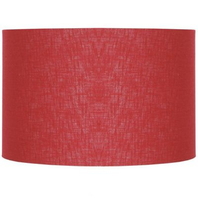 Modern 45cm Redcurrant Double Lined Linen Drum Lamp Shade Cylinder