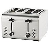Tesco 4 Slice Toaster - White & Stainless Steel