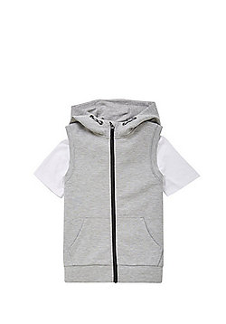 F&F Jersey Gilet and T-Shirt Set - Grey