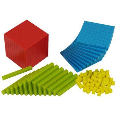 Bigjigs Toys Educational Plastic Base Ten Set - 161 Pieces
