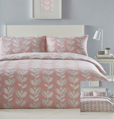 Escada duvet cover and pillowcase set - coral - single