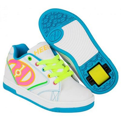 Heelys Propel 2.0 White/Neon Multi Kids Heely Shoe UK 5