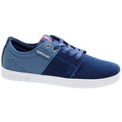 Supra Stacks Blue/Burgundy/White Shoe