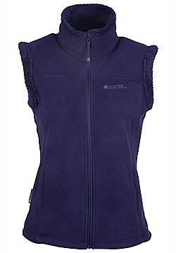 Mountain Warehouse Comet Fur Lined Womens Gilet - Navy
