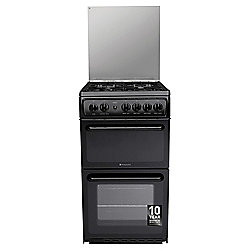 Hotpoint Newstyle Gas Cooker with Gas Grill and Gas Hob, HAGL51K - Black