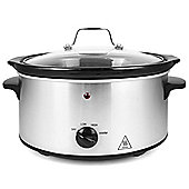 electriQ 3.5L Manual Slow Cooker Stainless Steel