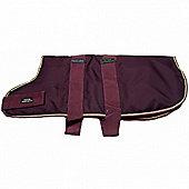 Outhwaite Waterproof Dog Coat Padded Lining - Maroon 60cm