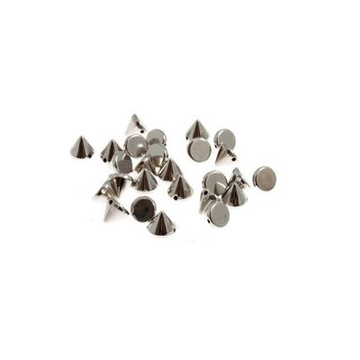 Impex Silver Sew On Studs 8 x 8mm 80pk