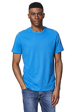 F&F Crew Neck T-Shirt with As New Technology - Blue