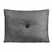 Cult Living Poet Cushion With Single Button - Grey and Black with Black Button
