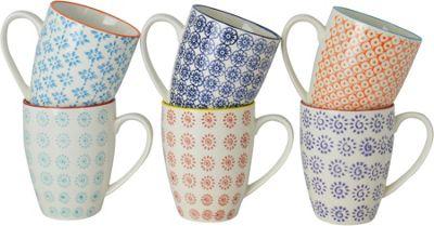 Nicola Spring Patterned Mugs - 360ml (12.7oz) - 6 Individual Designs - Box Of 6
