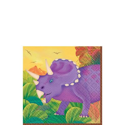 Prehistoric Party Beverage Napkins 2ply - 16 Pack