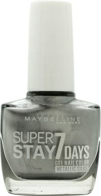 Maybelline SuperStay 7 Days Gel Nail Polish 10ml - Silver Satin