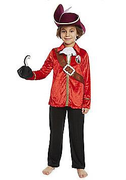 Disney Peter Pan Captain Hook Dress-Up Costume - Red & Black
