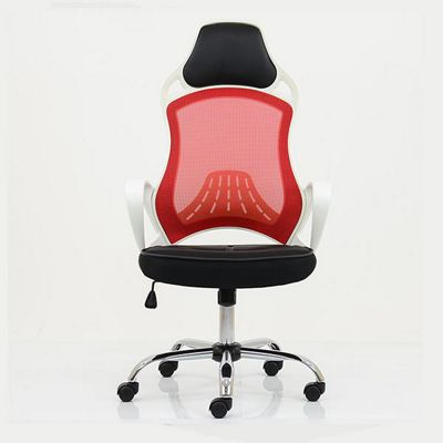 Zest Racing Mesh Office Chair White Frame Red Mesh