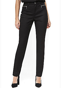 Wallis Zip Pocket Trousers - Black