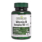 Natures Aid Vitamin B Complex 50 + Vitamin C (High Potency) - 90 Tablets