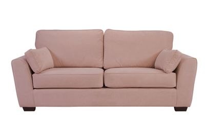 Saville Three Seater Sofa Lilac