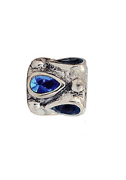 Amore & Baci Precious Rock Bead - Blue Pear