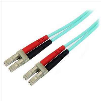 StarTech Fiber Optic Cable - 10 Gb Aqua Multimode Duplex 50/125 LSZH