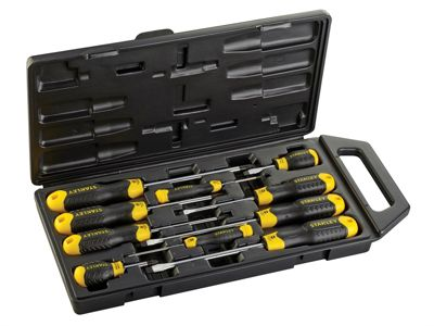Stanley Cushion Grip Screwdriver Set of 10 SL/PZ