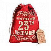 Red Hessian Christmas Gift Bag