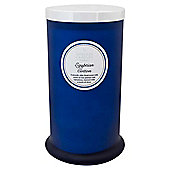 Tall Glass Pillar Jar with Lid Egyptian Cotton
