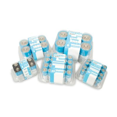 3 Pack Maplin 9V Battery Alkaline Extra Long-Life PP3