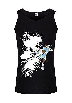 Chun-Li Men's Vest, Black. - Black