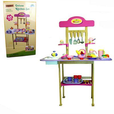 Parkfield Wooden Deluxe Play Kitchen 48 Piece set