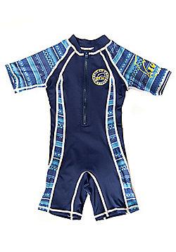 Jakabel Kids UV All in One Sunsuit | Aztec Blue - Blue